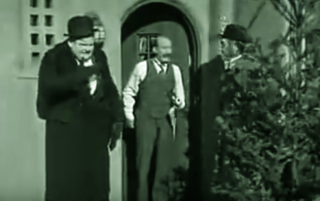 Laurel and Hardy, Christmas, comedy, tree