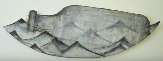 bottle, water, painting, Sarah Bush