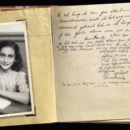 Anne Frank, diary, public domain, wikipedia