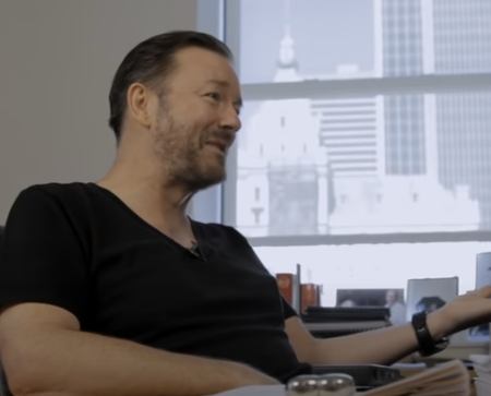 screenshot Ricky Gervais video